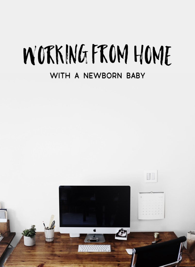 working from home with a baby