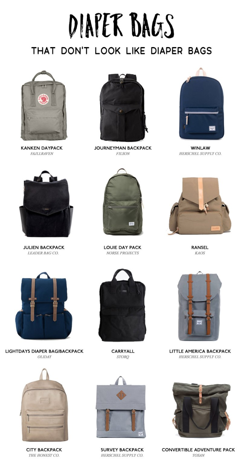 best diaper bags for dads