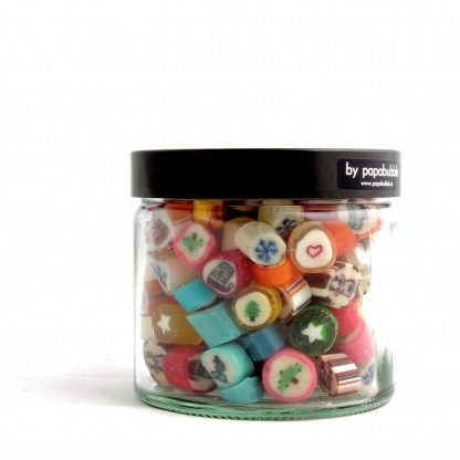christmas candy in a 200gr jar