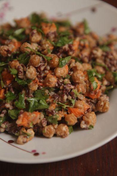 salada de arroz castanho com grão de bico e abóbora3