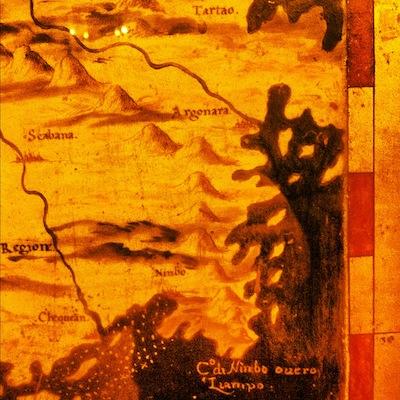 курьез: карта восточного Китая 16 века