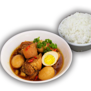 Vietnamese Braised Pork with Eggs and Rice