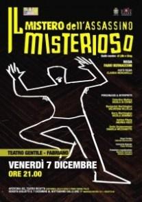 Mistero Assassino Misterioso Teatro Gentile 7 dicembre 2012