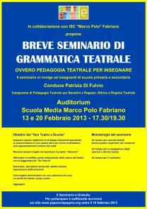 Seminario Pedagogia Teatrale Papaveri e Papere