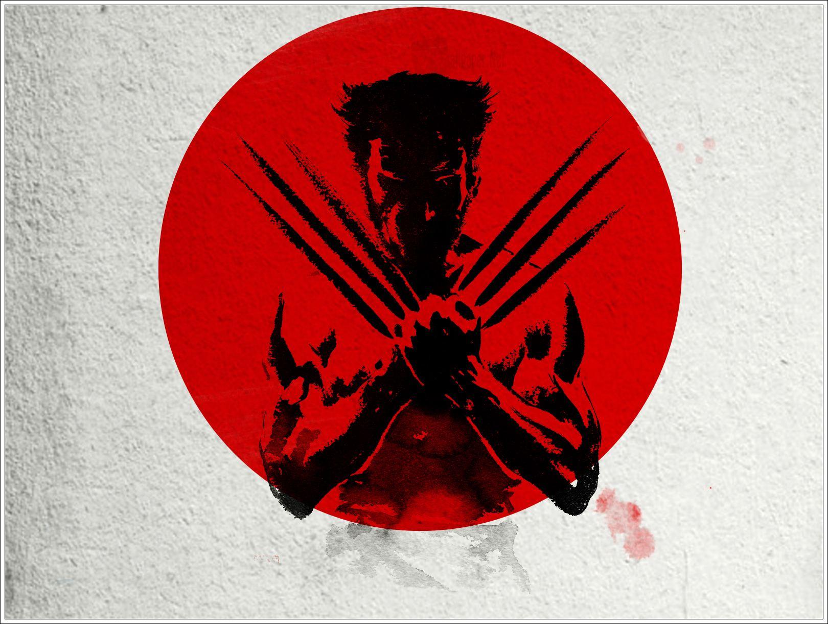 Papel De Parede Wolverine Na Bandeira Do Japao Wallpaper Para Download No Celular Ou Computador Pc