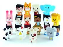 Papercraft de 20 marionetas dedos de animales y personas.