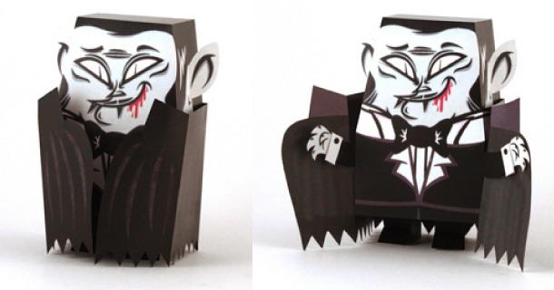 Papercraft sencillo de Drácula by Tougui.