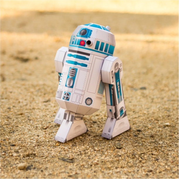 Papercraft - R2-D2 de Star Wars.