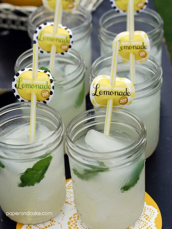 lemonade stand straw flag
