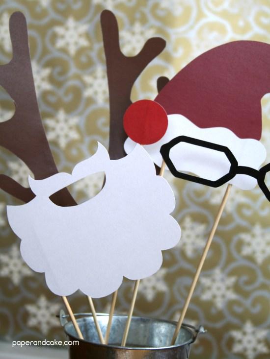Holiday Photo Booth Props santa