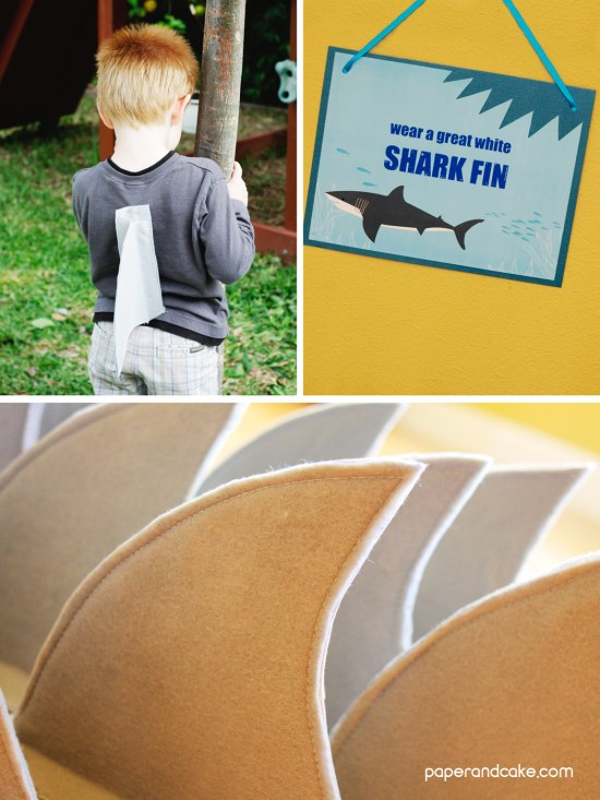 Sharks and SCUBA divers birthday party