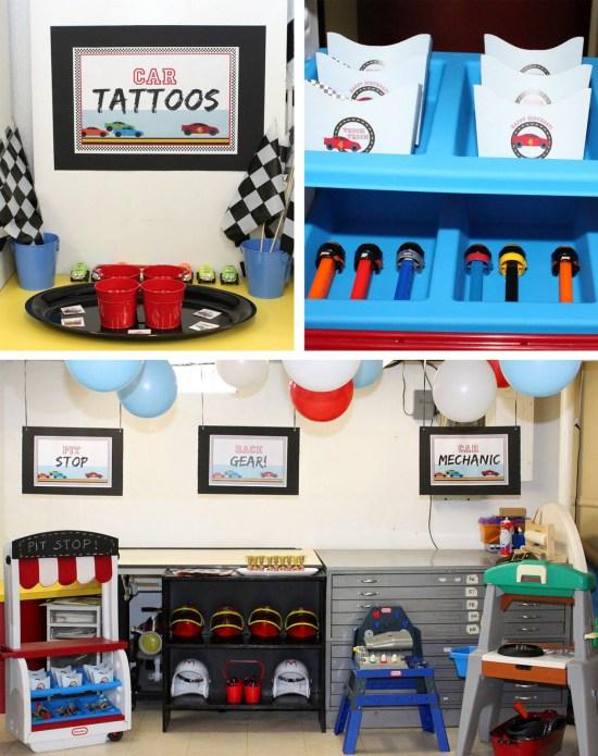 Race Car Printable Birthday party kit