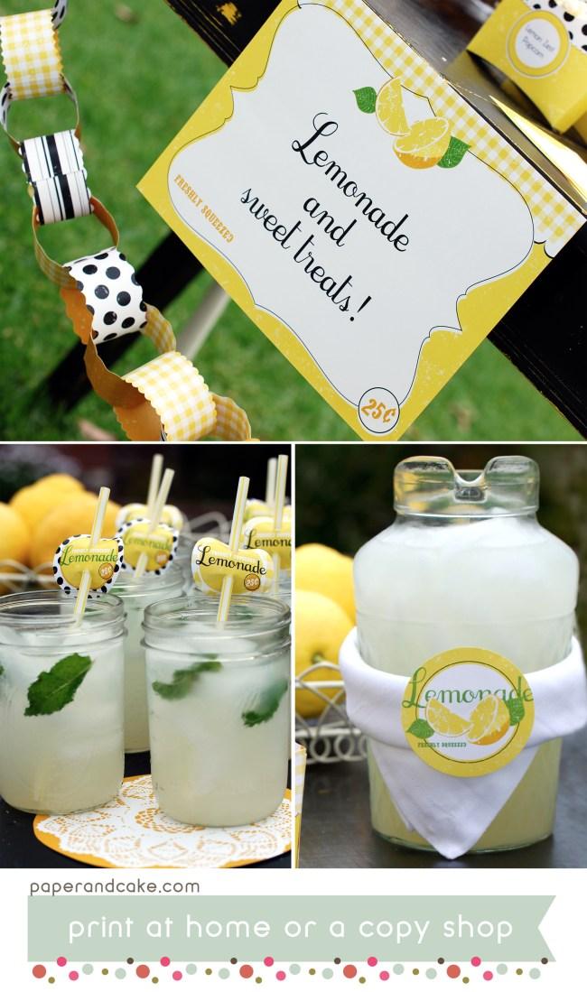Lemonade Printable Party