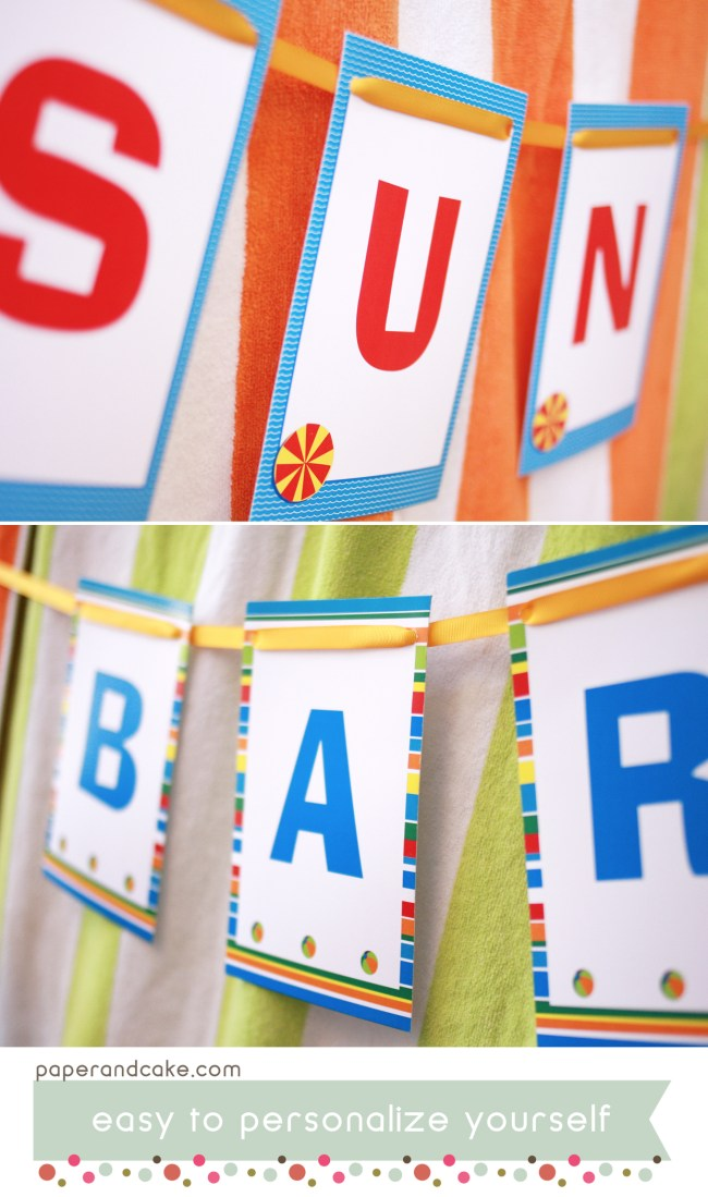 Pool Swim Printable Party and Tablescape
