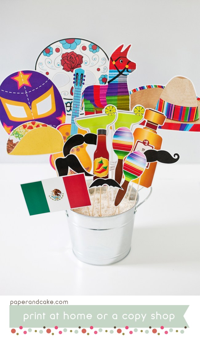 fiesta printable photo booth props