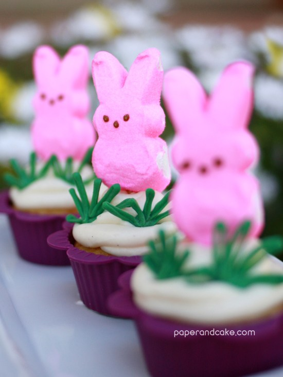 Easter Peep Cupcakes by Paper & Cake