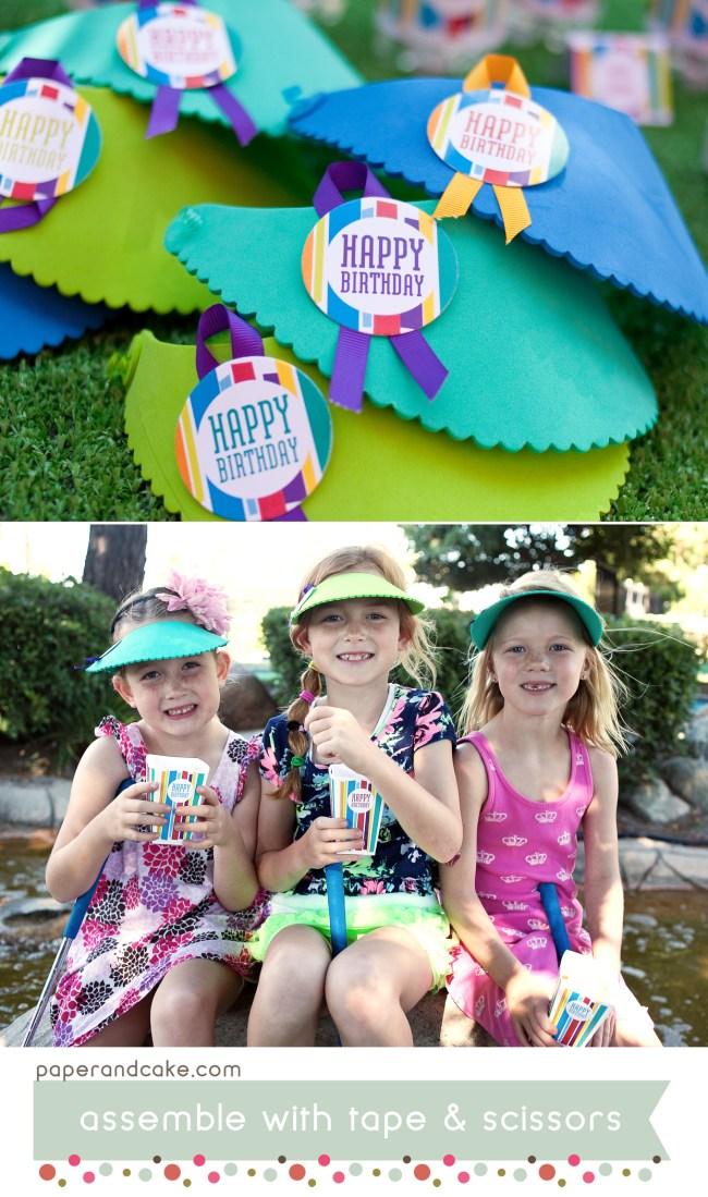 Mod Stripe Printable Birthday Party