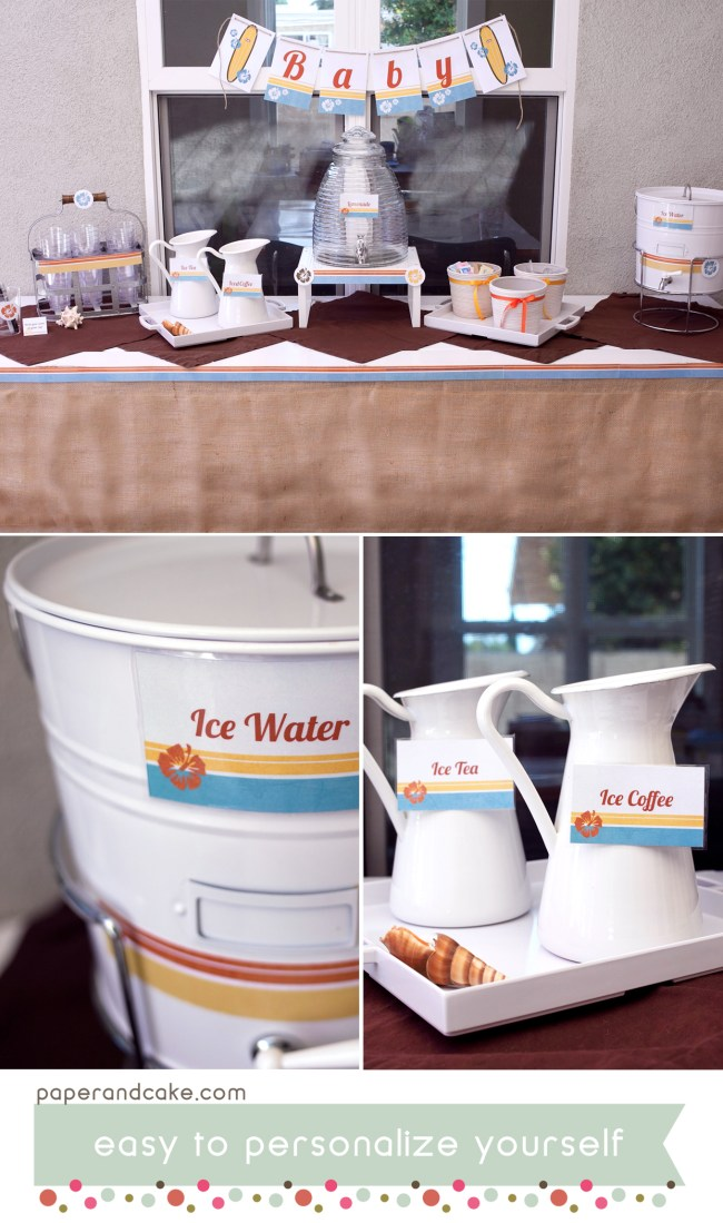 Vintage Surf Printable Party and Tablescape