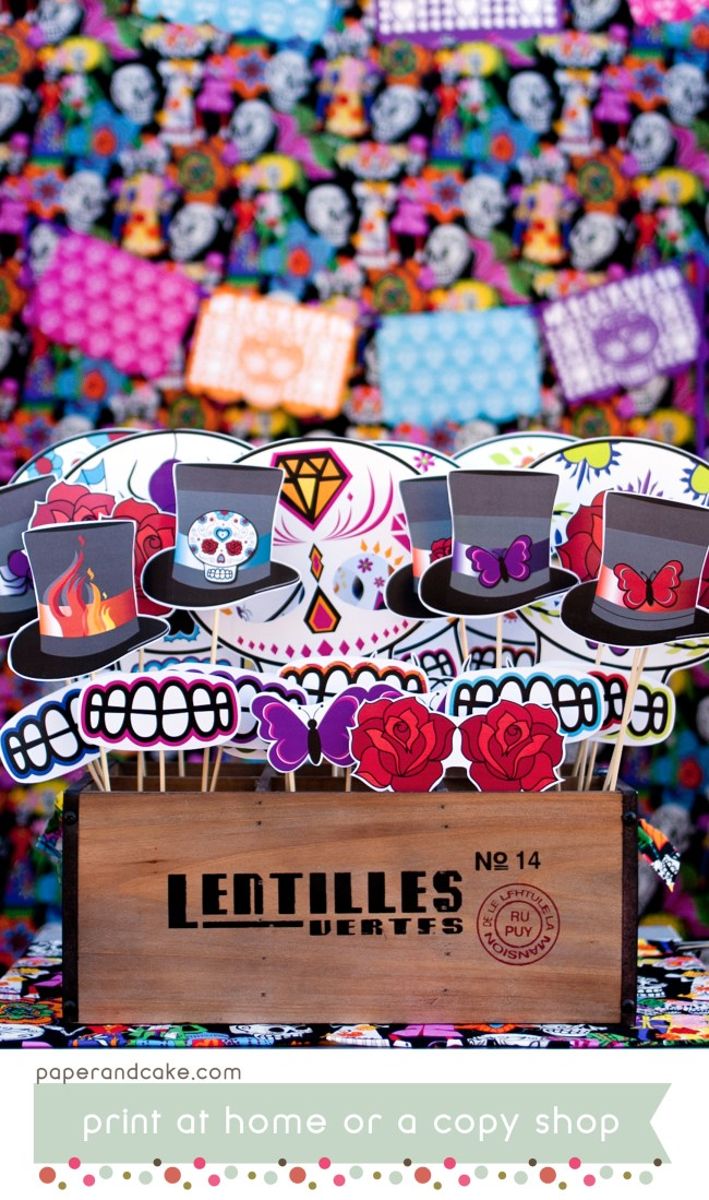 day of the dead photo booth props