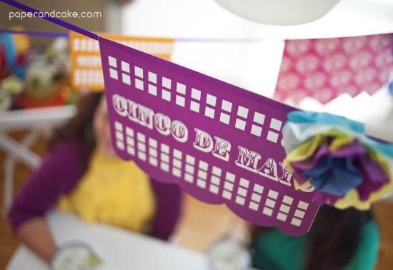 Cinco de Mayo Dia de los Muertos Fiesta Printable Party Decorations