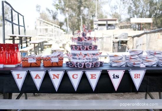 Bmx Dirt Bike Printable Birthday Party Invitation and Decorations