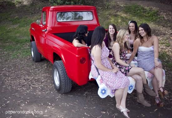 Pink Vintage Pickup Truck Printable Party