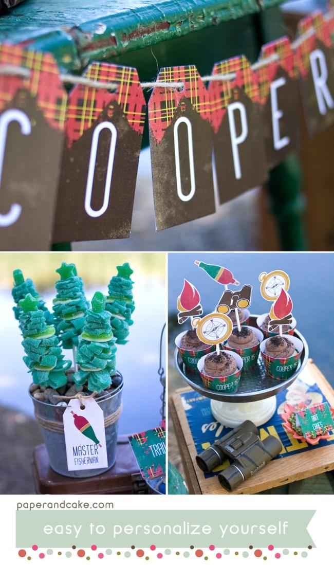 Outdoorsman Printable Birthday Party