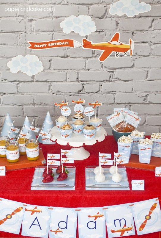 Airplane Birthday Printable Party