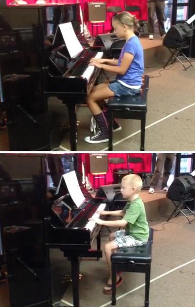 kids on pianos