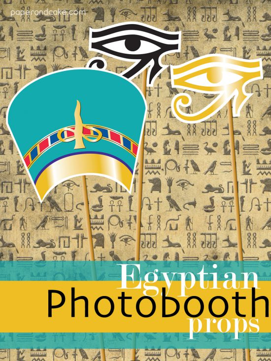 New Party Release Egyptian Photobooth Props Paper And