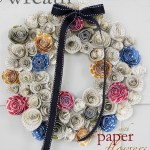 FREEBIE Friday from Paper & Cake Paper Flower Fal Wreathpinterest final