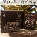 paper and cake printable partyware DIY CHALKBOARD GIFT wrap