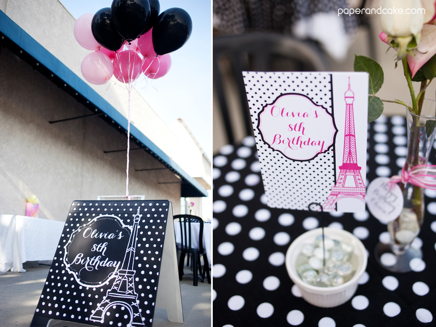 Paris Printable Birthday Party Paper And Cake Paper And Cake