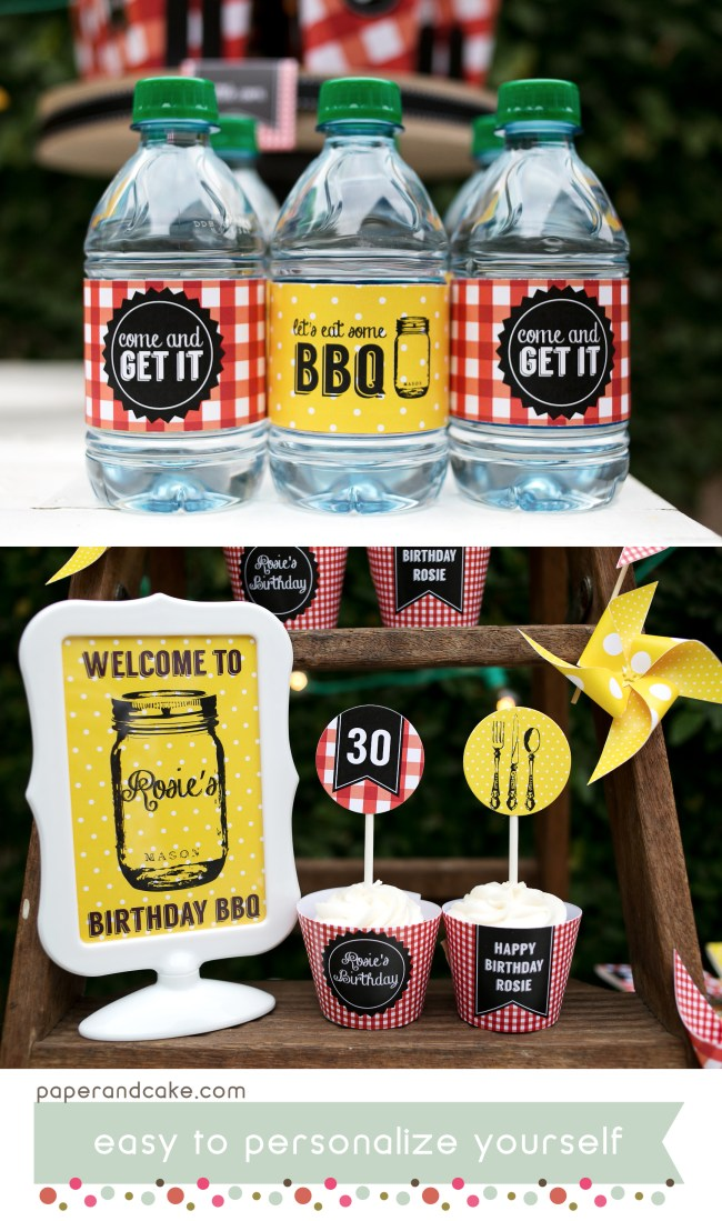 BBQ printable party kit