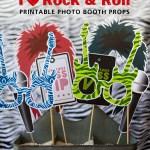 rockstar printable photo props