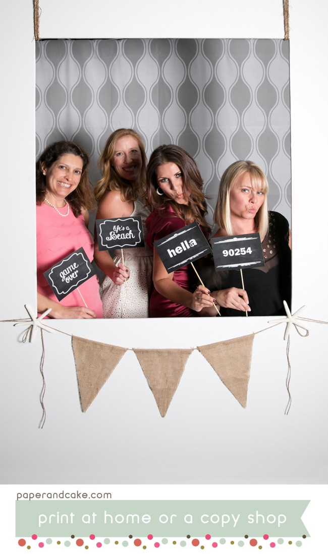 Chalkboard Printable Photo Booth Props