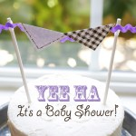 Printable Cowgirl baby shower