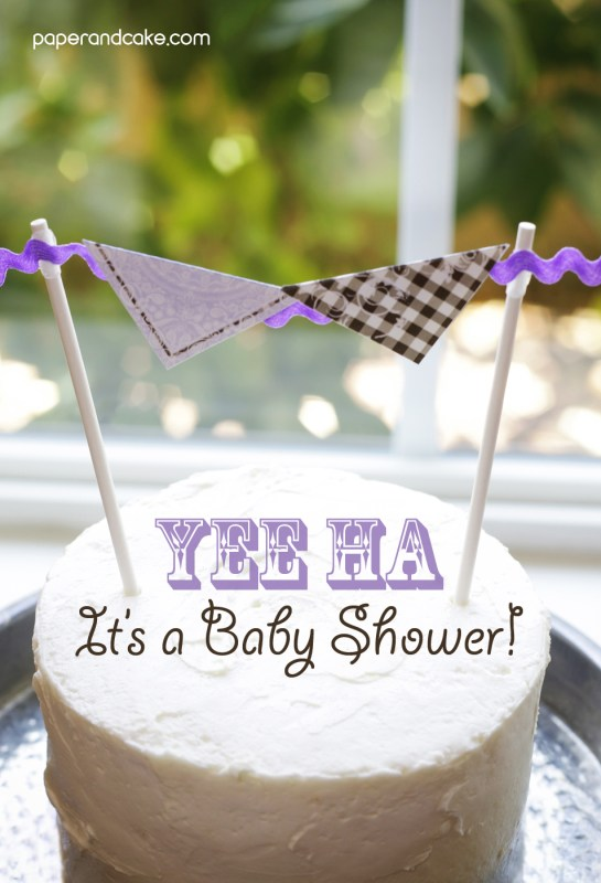 Cowgirl baby shower by paper & cake