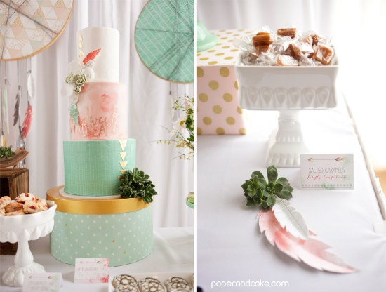 Bohemian Baby Shower cake