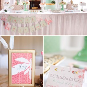 bohemian printable party set