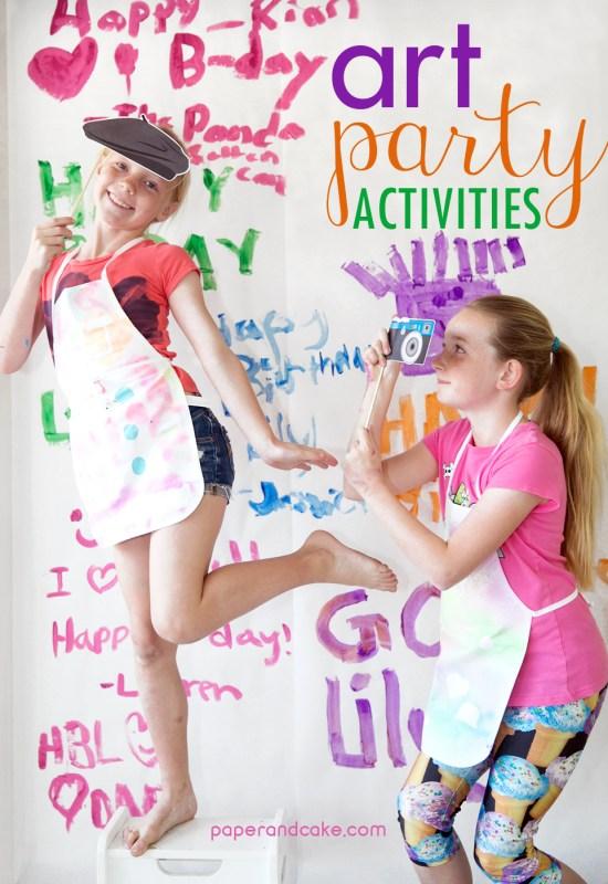 Art Party Activities