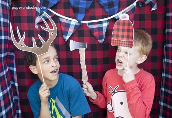 camping photo props boys
