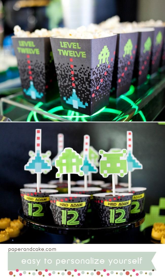 Video Game Printable Birthday Party