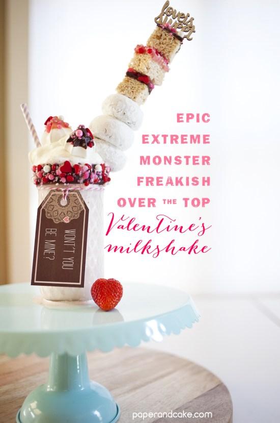 extreme strawberry milkshake for valentines day