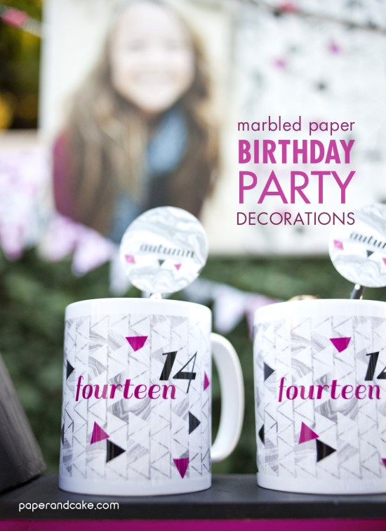 teenage birthday printable party decor