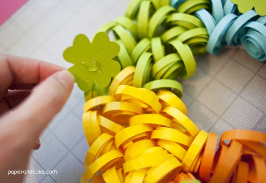 paper wreath for st. patrick's day