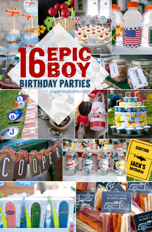 16 Best Boy Party Ideas Paper And Cake Paper And Cake