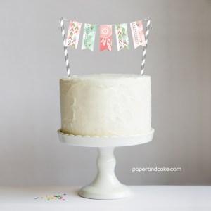 Bohemian Mini-Bunting Cake Topper
