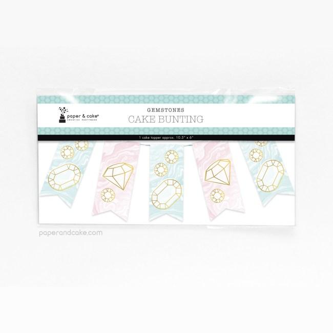 Gemstones Mini-Bunting Cake Topper