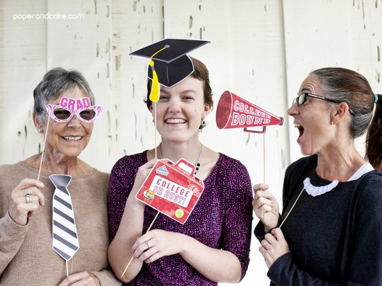 graduation photo booth props that are printable